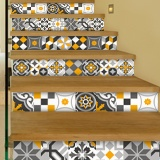 Stickers muraux: Kit 48 stickers pour Carrelage mural ornamentales 3