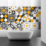 Stickers muraux: Kit 48 stickers pour Carrelage mural ornamentales 4