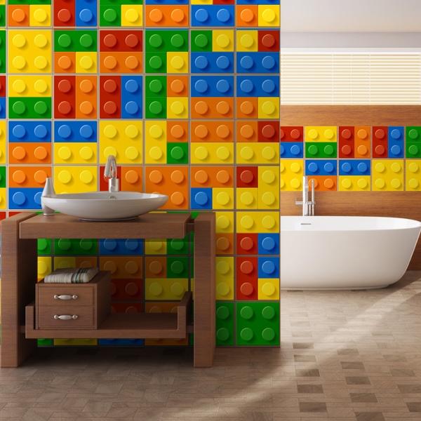 Kit 49 stickers pour carrelage lego - Azulejos vinilicos ...