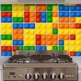 Stickers muraux: Kit 49 stickers pour Carrelage Lego 4