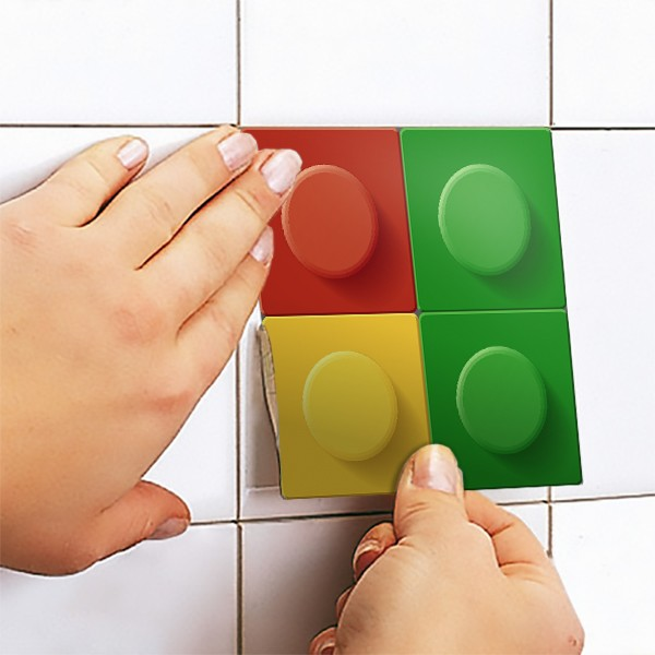 Stickers muraux: Kit 49 stickers pour Carrelage Lego