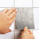 Stickers muraux: Kit 48 stickers pour Carrelage gris 5