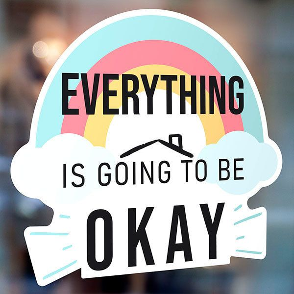 Stickers muraux: Arc-en-ciel Everything is going to be okay