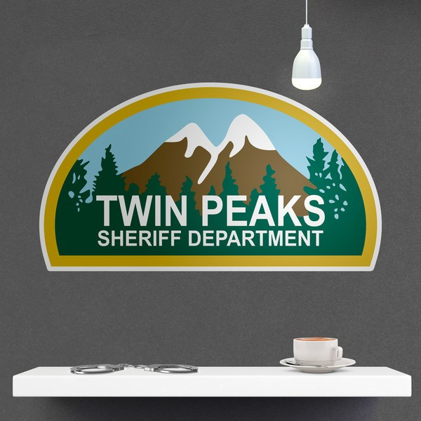 Stickers muraux: Twin Peaks Sheriff Department 1