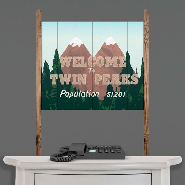 Stickers muraux: Wood Sign Twin Peaks 1
