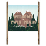 Stickers muraux: Wood Sign Twin Peaks