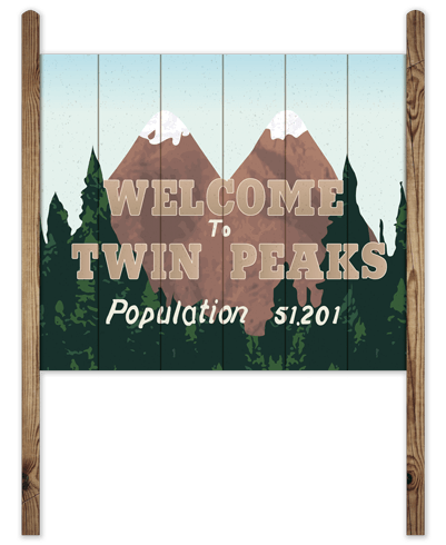 Stickers muraux: Wood Sign Twin Peaks 0