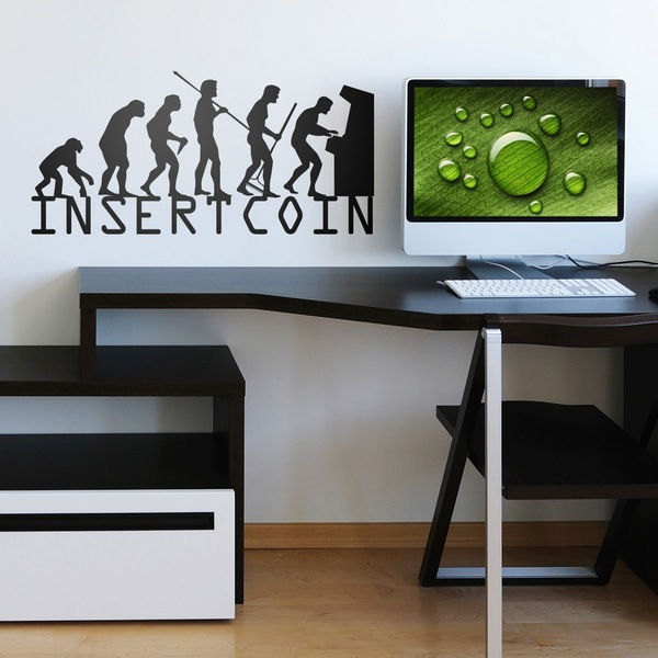 Stickers muraux: Evolution InsertCoin