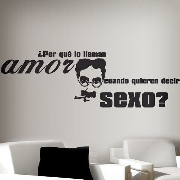 Stickers muraux: Amor Sexo - Groucho Marx