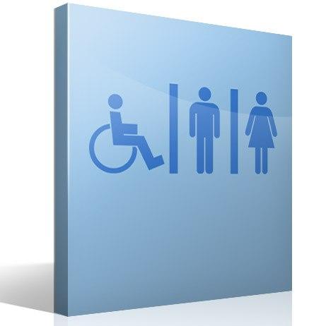 sticker muraux salle de bain wc mixto personnes handicap es. Black Bedroom Furniture Sets. Home Design Ideas