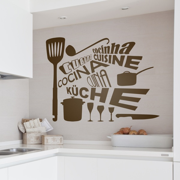 sticker muraux pour cuisine cuisine en langues. Black Bedroom Furniture Sets. Home Design Ideas