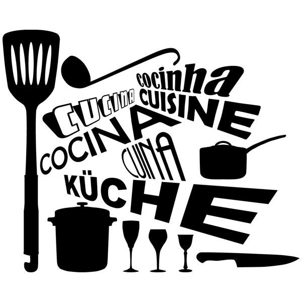 sticker muraux pour cuisine cuisine en langues. Black Bedroom Furniture Sets. Home Design Ideas