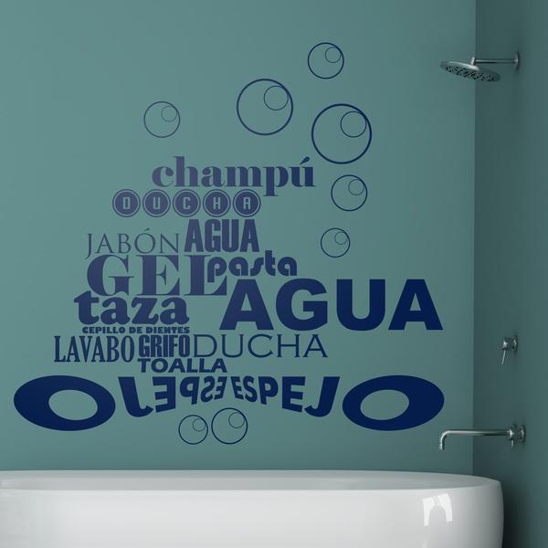 stickers mural de phrases pour la salle de bains. Black Bedroom Furniture Sets. Home Design Ideas