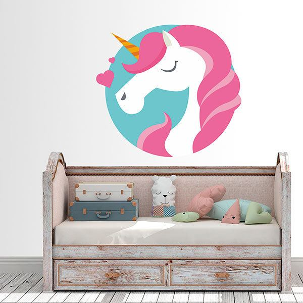 Stickers muraux: Licorne amoureuse