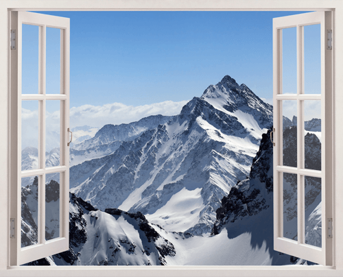 Montagnes de l 39 himalaya for Fenetre ouverte sur paysage