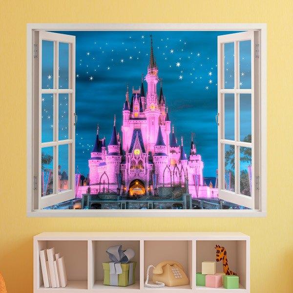 Sticker Mural Enfant Fenetre Chateau De Disney Webstickersmuraux Com