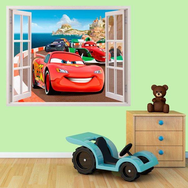 Stickers muraux 3d trompe l 39 oeil de fen tre pour enfants for Stickers para pared de dormitorio