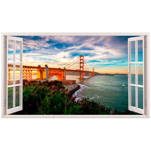 Stickers muraux: Panorama Golden Gate