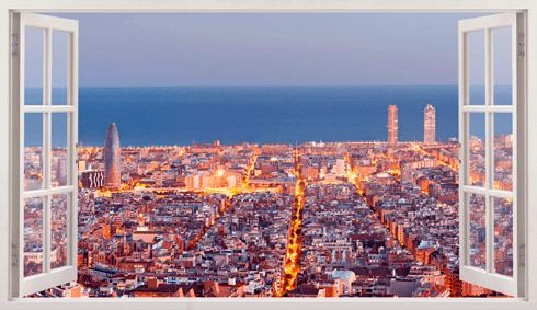 Stickers muraux: Panorama de Barcelone
