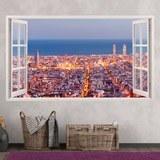 Stickers muraux: Panorama de Barcelone 3