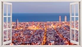 Stickers muraux: Panorama de Barcelone 5