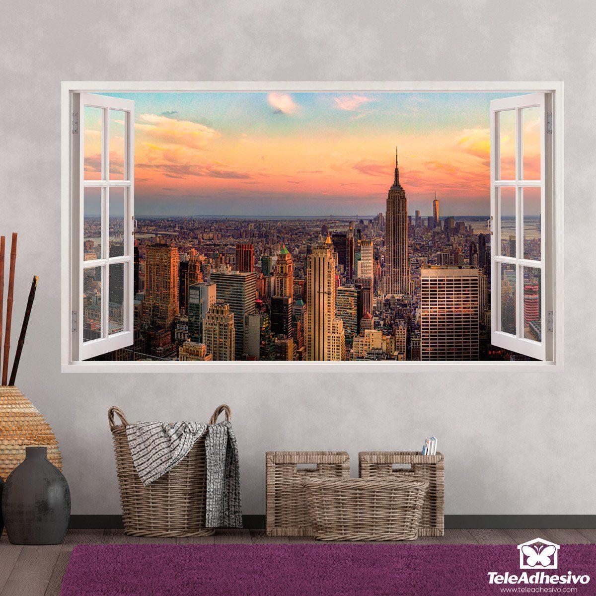 Stickers muraux: Panorama de New York