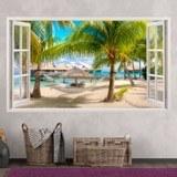 Stickers muraux: Panorama hamac sur la plage 3