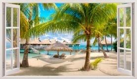 Stickers muraux: Panorama hamac sur la plage 5