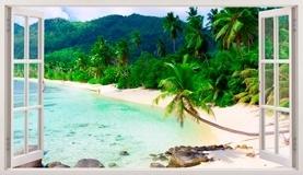 Stickers muraux: Panorama Palm sur la plage 2 5