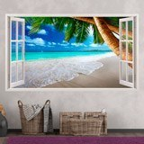 Stickers muraux: Panorama Palm sur la plage 13 3