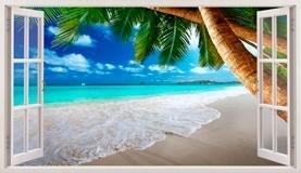 Stickers muraux: Panorama Palm sur la plage 13 5