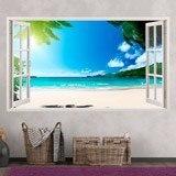 Stickers muraux: Panorama Palm sur la plage 5 3