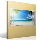 Stickers muraux: Panorama Palm sur la plage 5 4