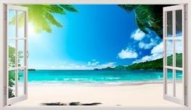 Stickers muraux: Panorama Palm sur la plage 5 5