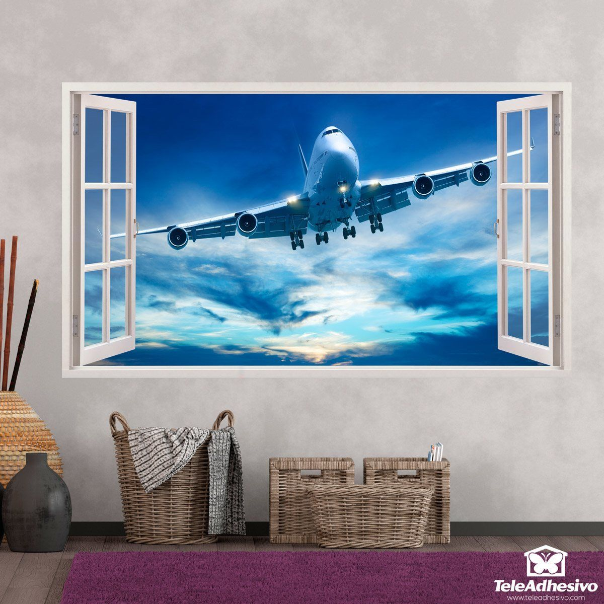 Stickers muraux: Panorama avion de ligne 1