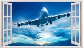 Stickers muraux: Panorama avion de ligne 1 5