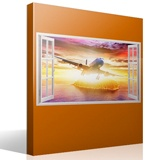 Stickers muraux: Panorama avion de ligne 2 4