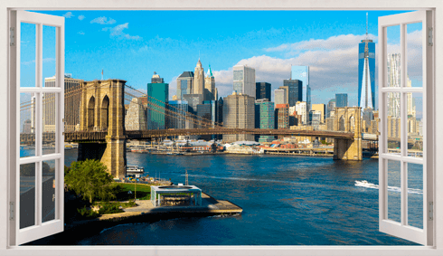 Stickers muraux: Panorama de Skyline New York 0