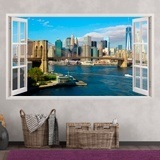 Stickers muraux: Panorama de Skyline New York 3