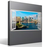 Stickers muraux: Panorama de Skyline New York 4