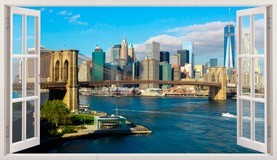 Stickers muraux: Panorama de Skyline New York 5
