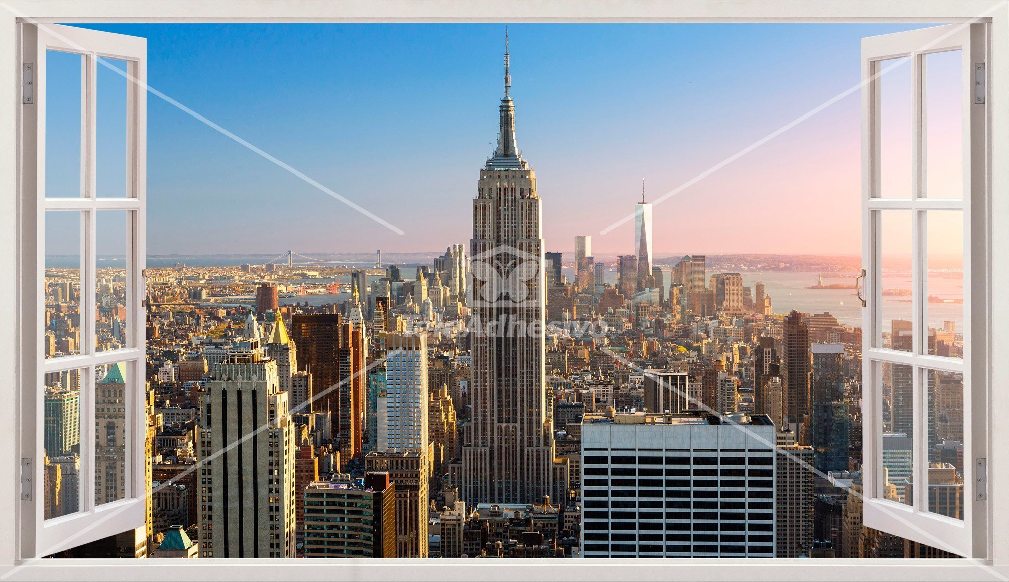 Stickers muraux: Panorama de New York 3