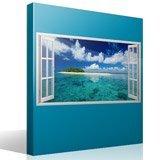 Stickers muraux: Panorama mer et l île dans les Caraïbes 4