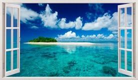 Stickers muraux: Panorama mer et l île dans les Caraïbes 5