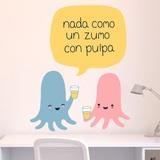Stickers pour enfants: Octopus prenant jus avec pulpe 3