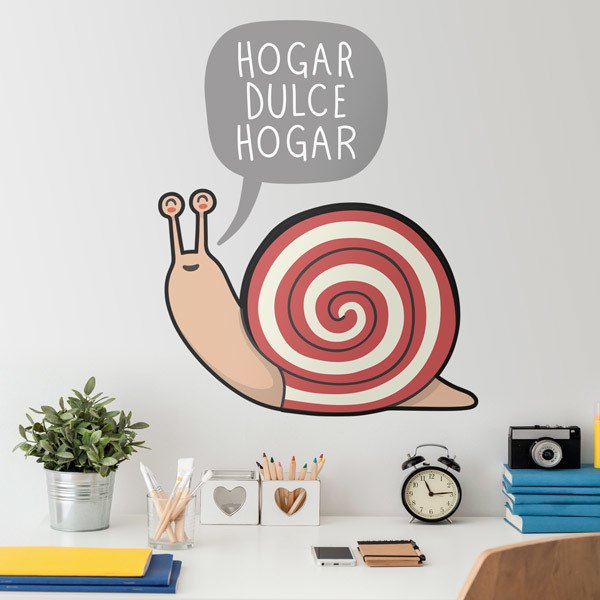 Stickers pour enfants: Escargot home sweet home