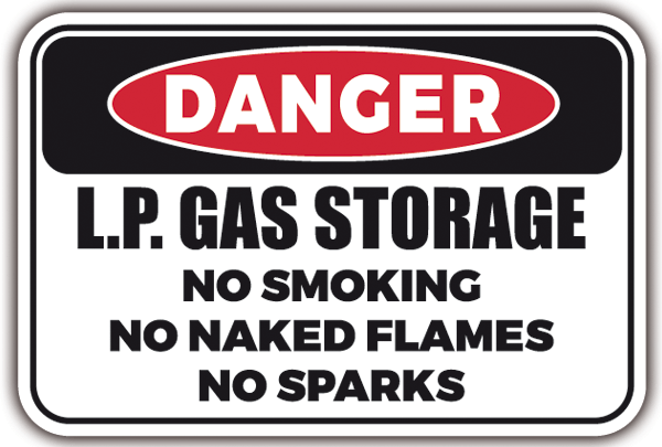 Autocollants: DANGER - LP GAS Storage