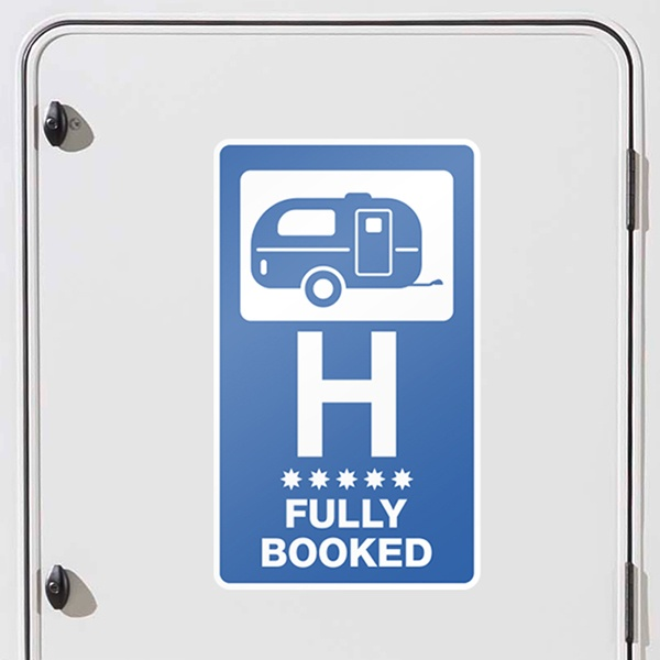 Autocollants: Hôtel Fully Booked