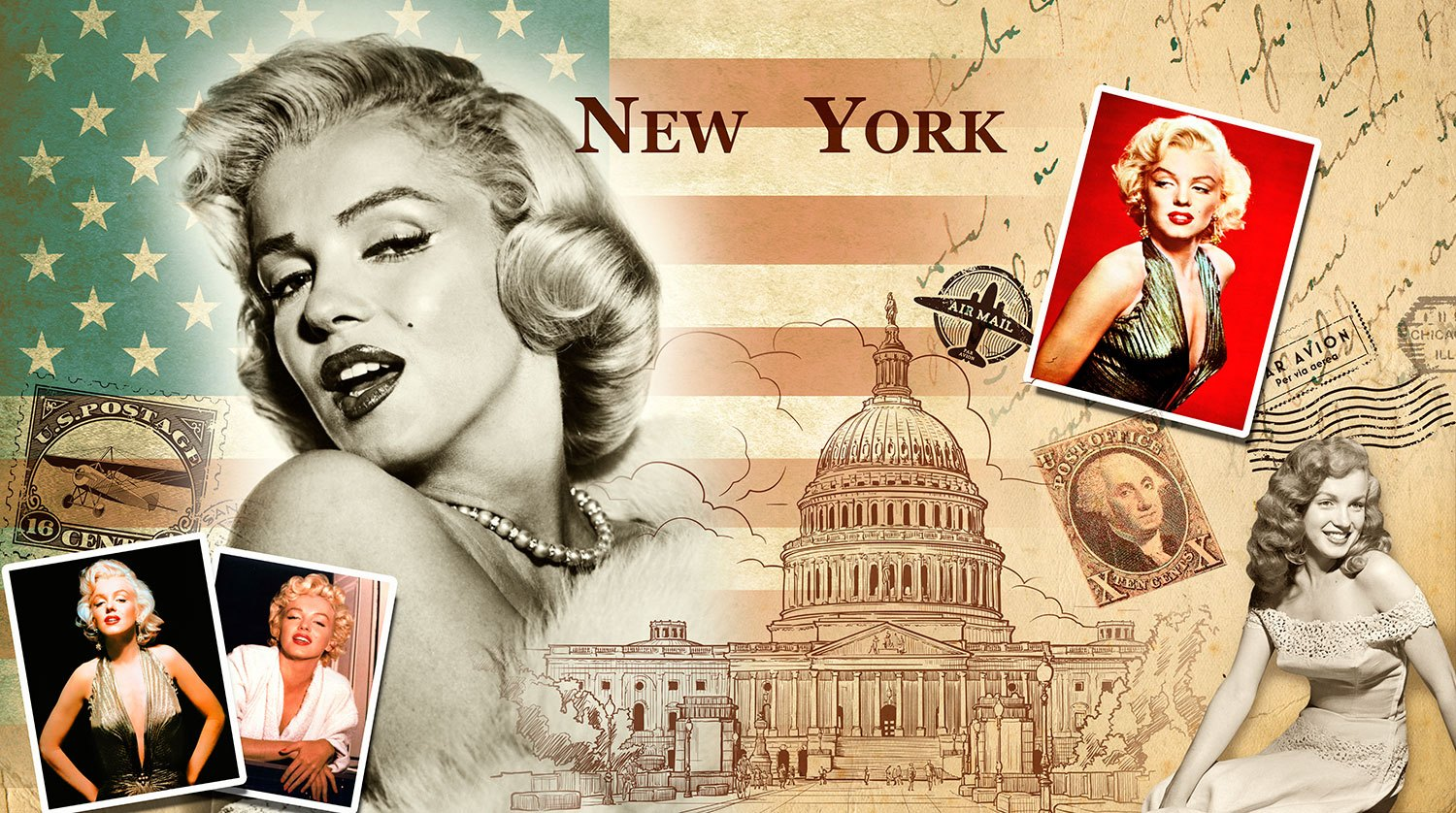 Poster xxl: Collage Marilyn Monroe
